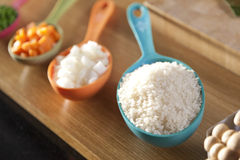 Food ingredient in spoon. Stock Photos