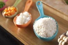 Food ingredient in spoon. Royalty Free Stock Photo
