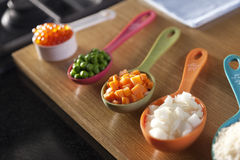 Food ingredient in spoon. Stock Images