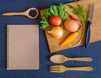 Food ingredient on wooden cutting board Royalty Free Stock Photography