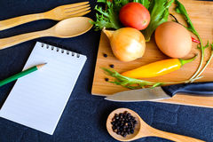 Food ingredient on wooden cutting board Stock Image