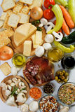 Food ingredients. Used in italian and other european cuisine Royalty Free Stock Photos