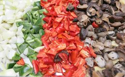 Food ingredients. Many kind of food ingredients Royalty Free Stock Photography