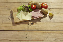 Food ingredients background Stock Photo