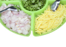 Food ingredients in the big dish,this have clipping path Royalty Free Stock Photo