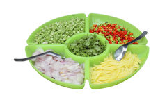 Food ingredients in the big dish,this have clipping path Stock Photography