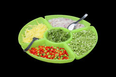 Food ingredients in the big dish,this have clipping path Stock Image