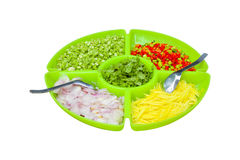 Food ingredients in the big dish,this have clipping path Royalty Free Stock Photography