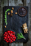 Food ingredients for cooking on cutting board Stock Photography