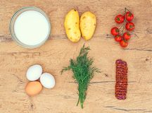 Food ingredients for Frittata. Stock Image