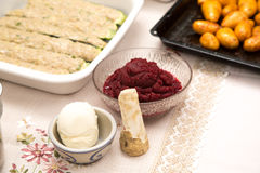 Food ingredients for a good and healthy meal Stock Photos