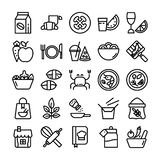 Food Ingredients Icons royalty free illustration
