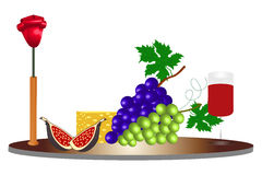 Food ingredients - illustration Royalty Free Stock Images