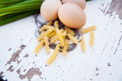 Food ingredients for omelet - healthy breakfast Stock Photos
