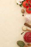 Food ingredients and paper Royalty Free Stock Image