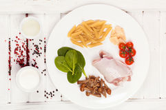 Food ingredients on the plate Stock Photo