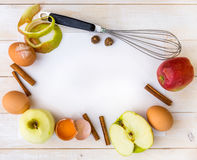 Food ingredients for the preparation apple pie Stock Photography