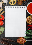 Food ingredients and recipe book Stock Photo