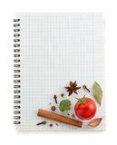 Food ingredients and recipe book Stock Photography