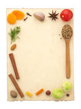 Food ingredients and recipe pape Royalty Free Stock Photo