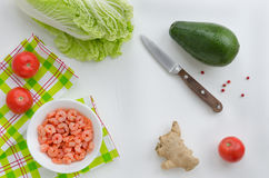 Food ingredients for salad Stock Images