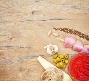 Food ingredients for shashlik. Royalty Free Stock Photo