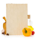 Food ingredients and spices Stock Image