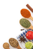 Food ingredients and spices Royalty Free Stock Image