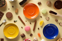 Food ingredients and sweets Stock Photo