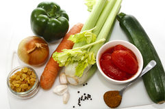 Food ingredients to make couscous or kuskus Stock Photo