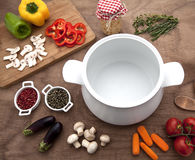 Food ingredients. On top view Royalty Free Stock Photography
