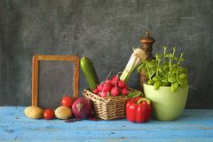 Food ingredients, various vegetables Stock Images