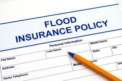 Food insurance policy with pen. Food insurance policy with ballpoint pen Stock Images