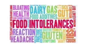 Food intolerances animated word cloud