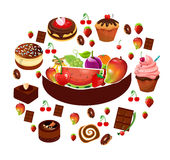 food item collection Stock Image