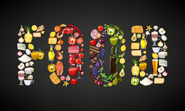 Food items composition Stock Image
