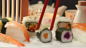 Food - Japanese Sushi stock footage