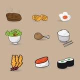 Food Japanese sushi menu cartoon Stock Photos
