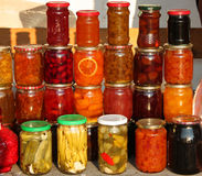 Food in jars Stock Photo