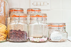 Food jars Royalty Free Stock Image