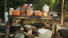 Food , khmer kitchen , cambodia, southeast asia stock video footage