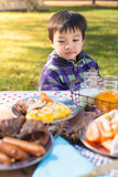 Food and kid Royalty Free Stock Photos