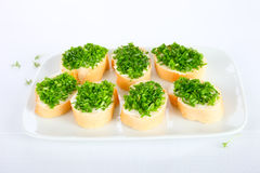 Chives sandwiches Stock Photography