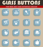 Food and kitchen icon set Royalty Free Stock Photography
