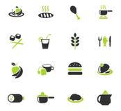 Food and kitchen icon set Royalty Free Stock Photos