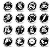 Food and kitchen icon set Stock Photo