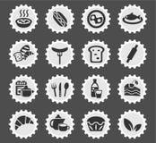 Food and kitchen icon set Royalty Free Stock Photo