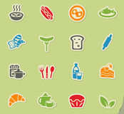 Food and kitchen icon set Royalty Free Stock Photo