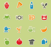 Food and kitchen icon set Stock Photography