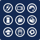 Food and Kitchen icons (set 9, part 2) royalty free illustration
